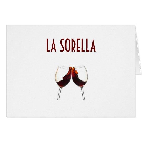 LA SORELLA (sister) ITALIAN BIRTHDAY Card