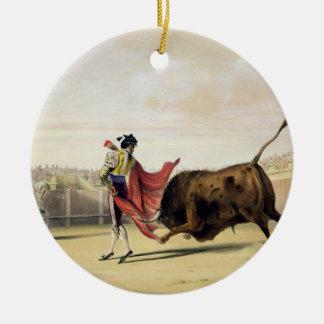 La Suerte de la Capa, 1865 (colour litho) Christmas Ornament