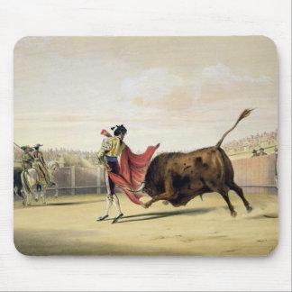 La Suerte de la Capa, 1865 (colour litho) Mouse Mat