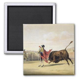 La Suerte de la Capa, 1865 (colour litho) Square Magnet
