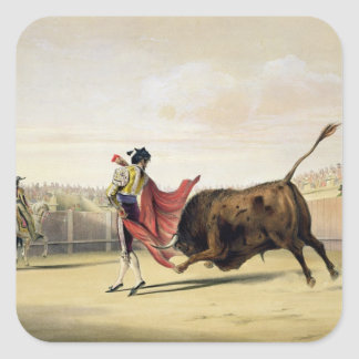 La Suerte de la Capa, 1865 (colour litho) Square Sticker
