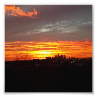 LA Sunset Photo Art
