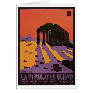 La Syrie et Le Liban vintage travel poster Card
