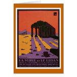 """""""La Syrie et Le Liban"""" Vintage Travel Poster Card"""