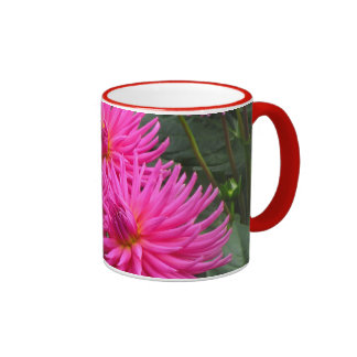 La Taza - Las Dalias Rosas Ringer Mug
