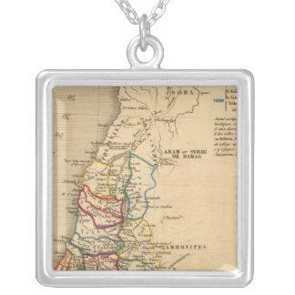 La Terre Sainte partagee en 12 tribus Silver Plated Necklace