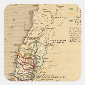 La Terre Sainte partagee en 12 tribus Square Sticker