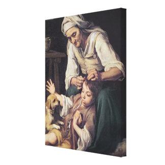 La Toilette Domestique', 1670-75 Canvas Print