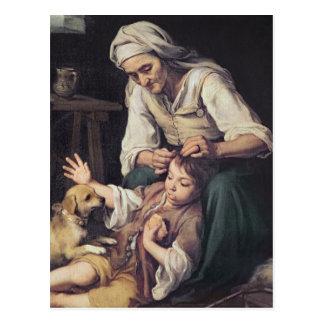 La Toilette Domestique', 1670-75 Postcard