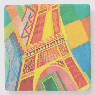 La Tour Eiffel by Robert Delaunay Stone Coaster