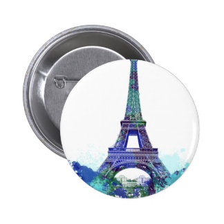 La tour Eiffel  color splash 6 Cm Round Badge
