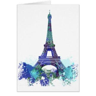 La tour Eiffel  color splash Card