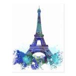 La tour Eiffel  color splash Postcards