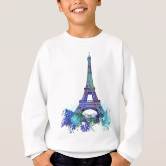 La tour Eiffel  color splash Sweatshirt