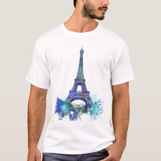 La tour Eiffel  color splash T-Shirt