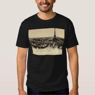 La Tour Eiffel, Paris France c1910 Vintage Shirt