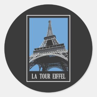 La Tour Eiffel Round Sticker