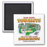 LA Tourist Gator Square Magnet