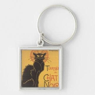 La tournée du Chat Noir Silver-Colored Square Key Ring