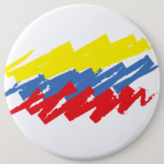 """La Tricolor"" 6 Cm Round Badge"