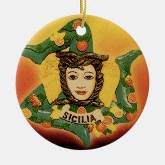 La Trinacria ornament