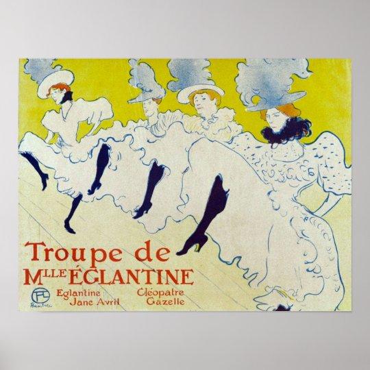 la troup de mlle Elegant poster 1895 by Lautrec