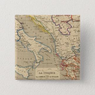 La Turquie, la Grece et l'Italie de 1700 a 1840 15 Cm Square Badge