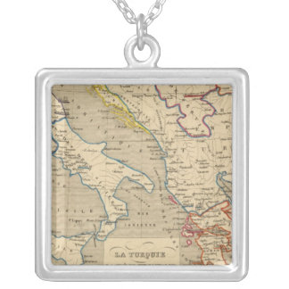 La Turquie, la Grece et l'Italie de 1700 a 1840 Silver Plated Necklace