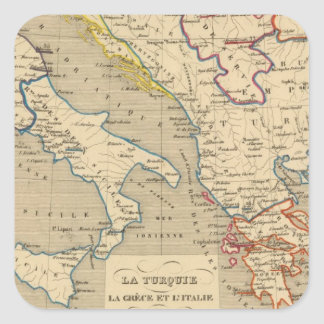 La Turquie, la Grece et l'Italie de 1700 a 1840 Square Sticker