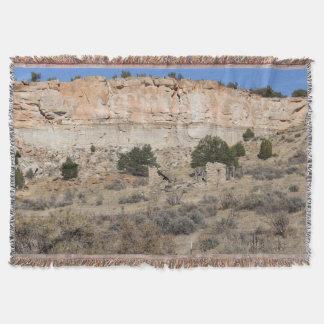 La Ventana, Cuba, New Mexico Throw Blanket