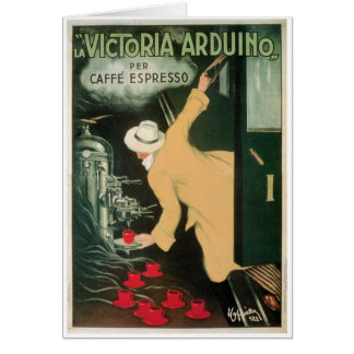 La Victoria Arduino Vintage Coffee Drink Ad Art Stationery Note Card