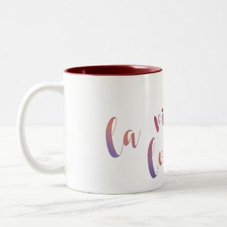 La Vida Loca Gradient Script Type Mug Color Inside