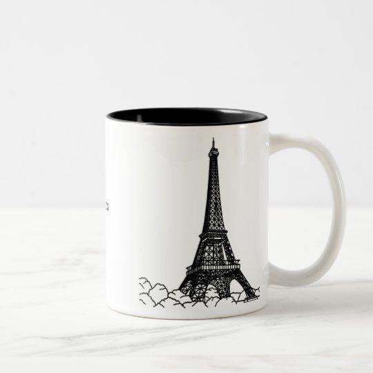 La vie en rose. Two-Tone coffee mug