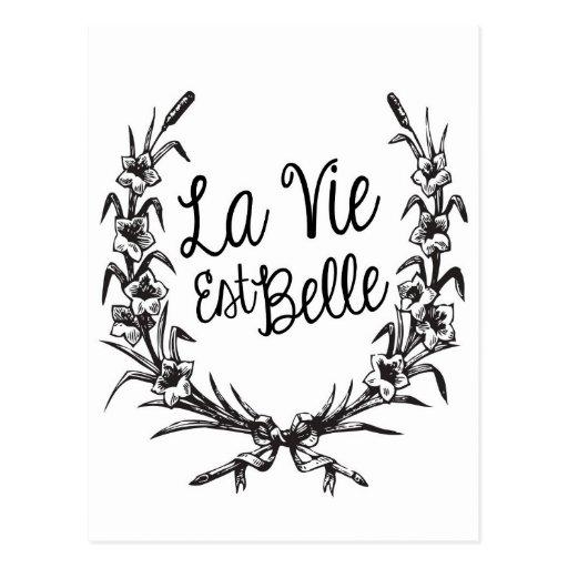 La Vie Est Belle Postcards