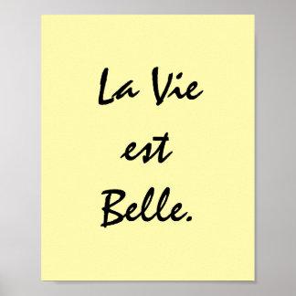 La Vie est Belle. Poster