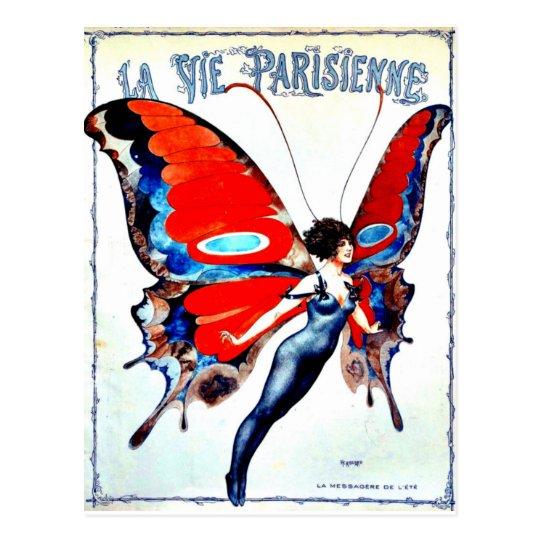 """La Vie Parisienne """"Parisian life"""" - Fairy Postcard"""