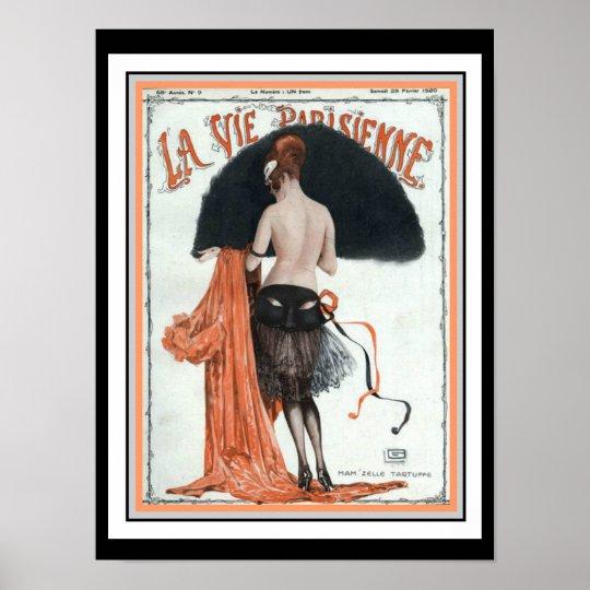 La Vie Parisienne Vintage Cover Poster 12 x
