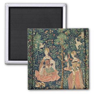 La Vie Seigneuriale: Embroidery, c.1500 Magnet