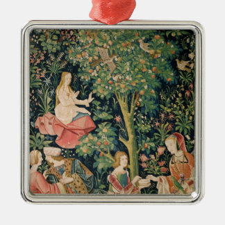 La Vie Seigneuriale: Scene Galante, c.1500 Christmas Ornament