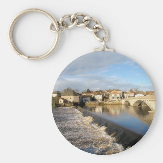 La Vienne Bridge Basic Round Button Key Ring