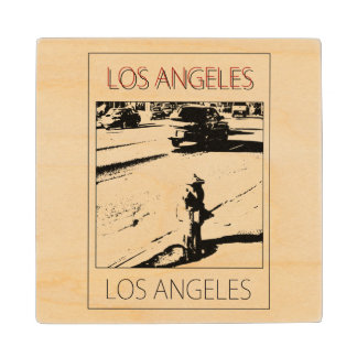 LA water pump Wood Coaster