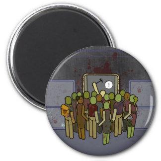 LA Zombie Metro Subway Satire 6 Cm Round Magnet
