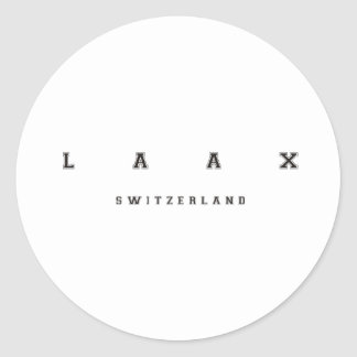 Laax Switzerland Classic Round Sticker