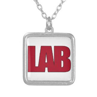 LAB - BIG RED BOLD MEDICAL LABORATORY LOGO JEWELRY