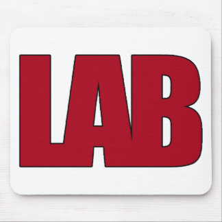 LAB BIG RED LETTERS LABORATORY MOUSE MAT