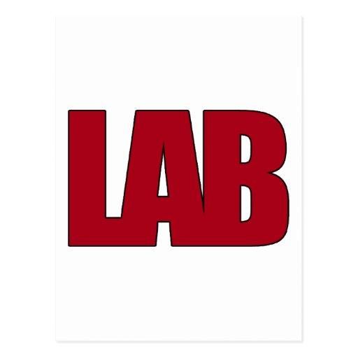 LAB BIG RED LETTERS LABORATORY POSTCARDS