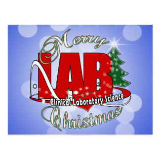 LAB CHRISTMAS CLINICAL LABORATORY SCIENCE POSTCARDS