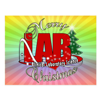 LAB CHRISTMAS CLINICAL LABORATORY SCIENCE POSTCARD