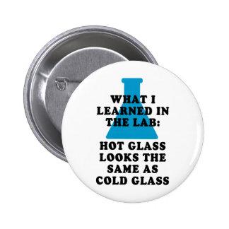 Lab Glass 6 Cm Round Badge