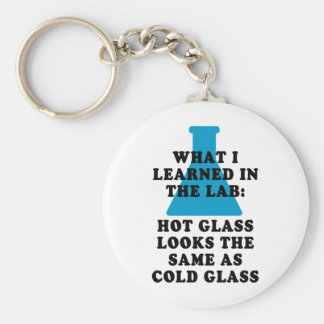 Lab Glass Basic Round Button Key Ring